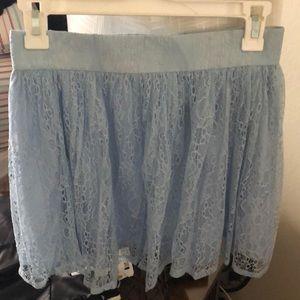 baby blue forever 21 skirt